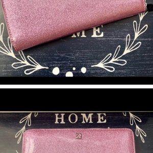 Kate Spade Rose Pink Vinyl Tote and Wallet